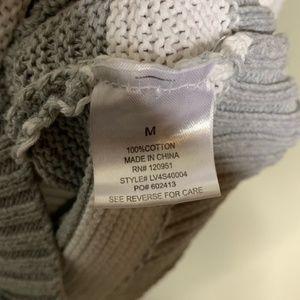 Olive & Oak Sweaters - Olive & Oak Grey and White Striped Cardigan